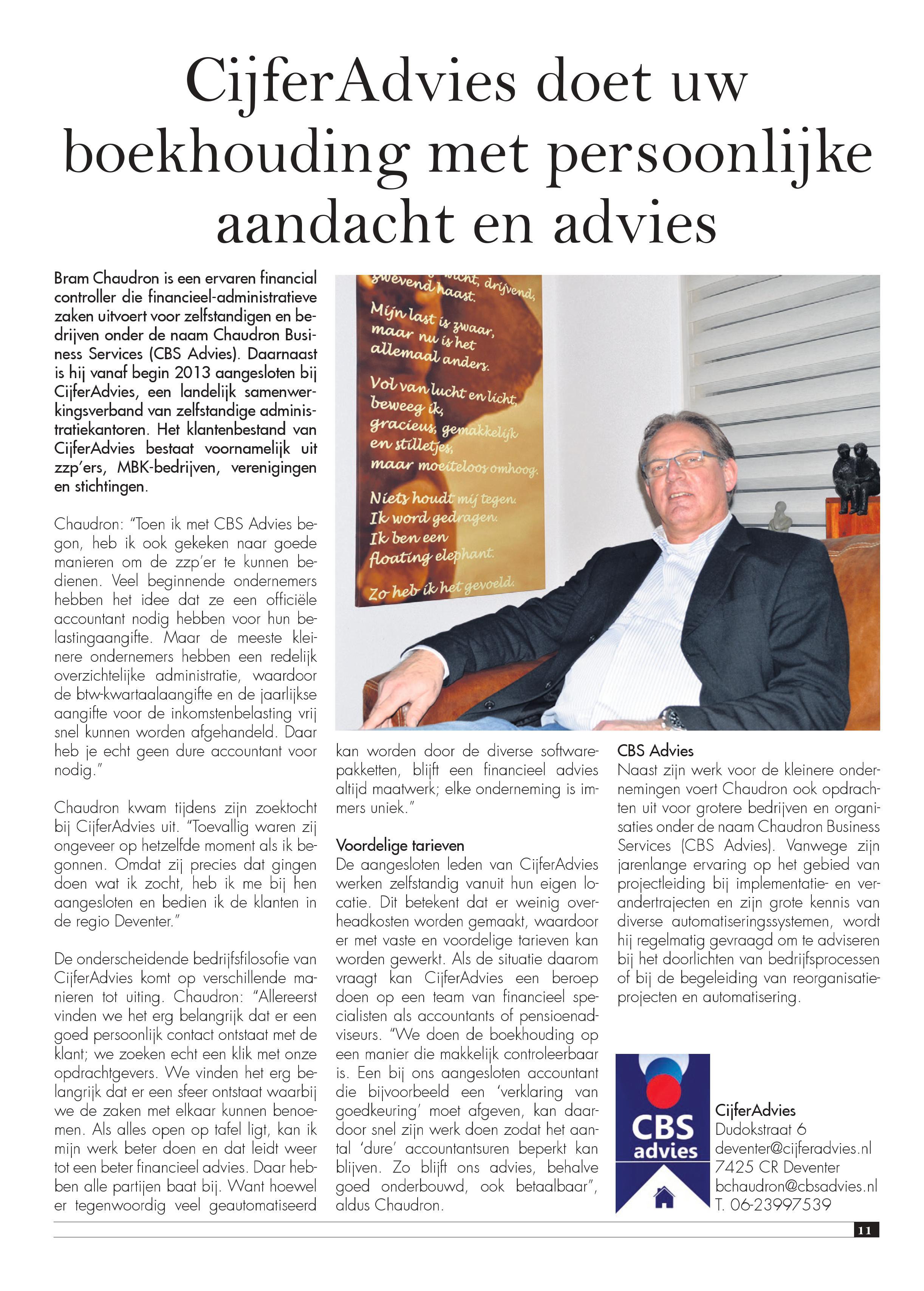 CBS Advies in Nieuwsblad Stedendriehoek 2015-12-02